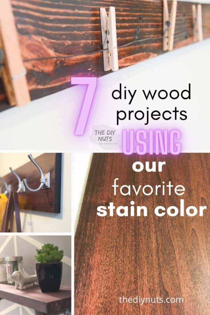 7 DIY Wood Projects Using Red Mohogany Stain
