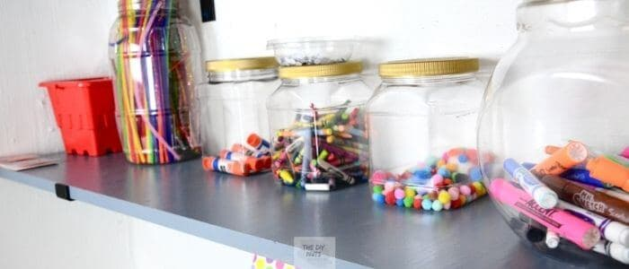 DIY Craft shelves