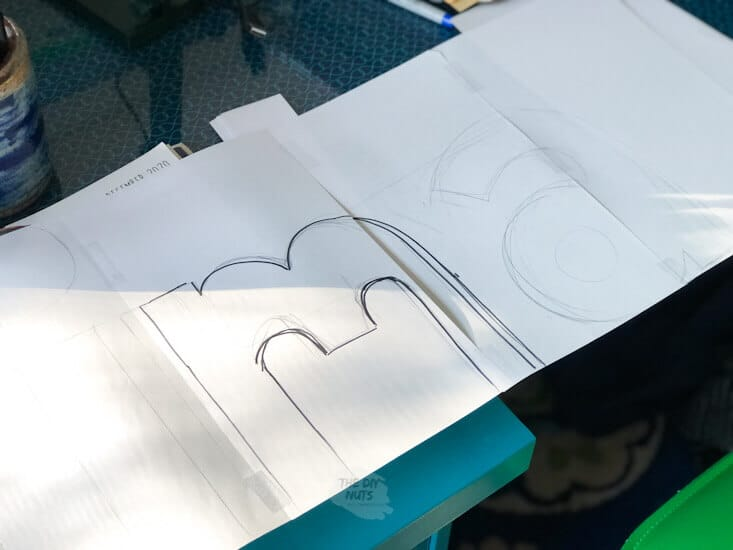 Planning out letters for large DIY string art