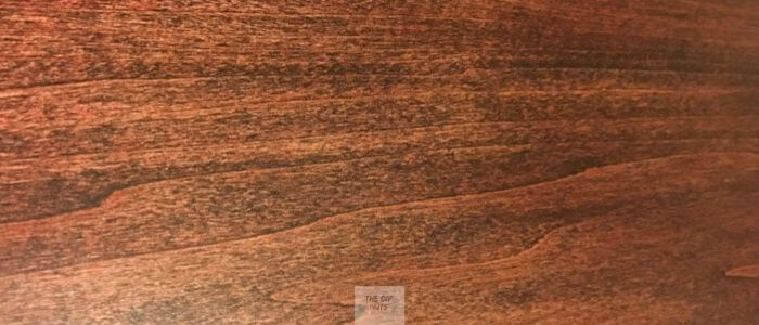 Red Mahogany Stain Color