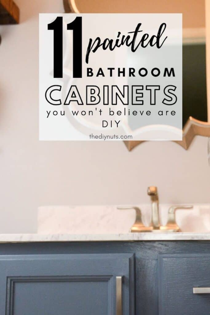 Painted Bathroom cabinets with 11 painted bathroom cabinets that you won't believe are DIY