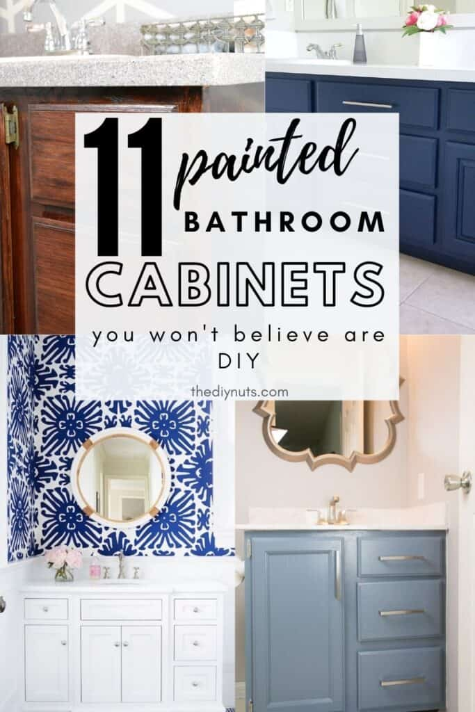 11 painted bathroom cabinets that you won't believe are DIY