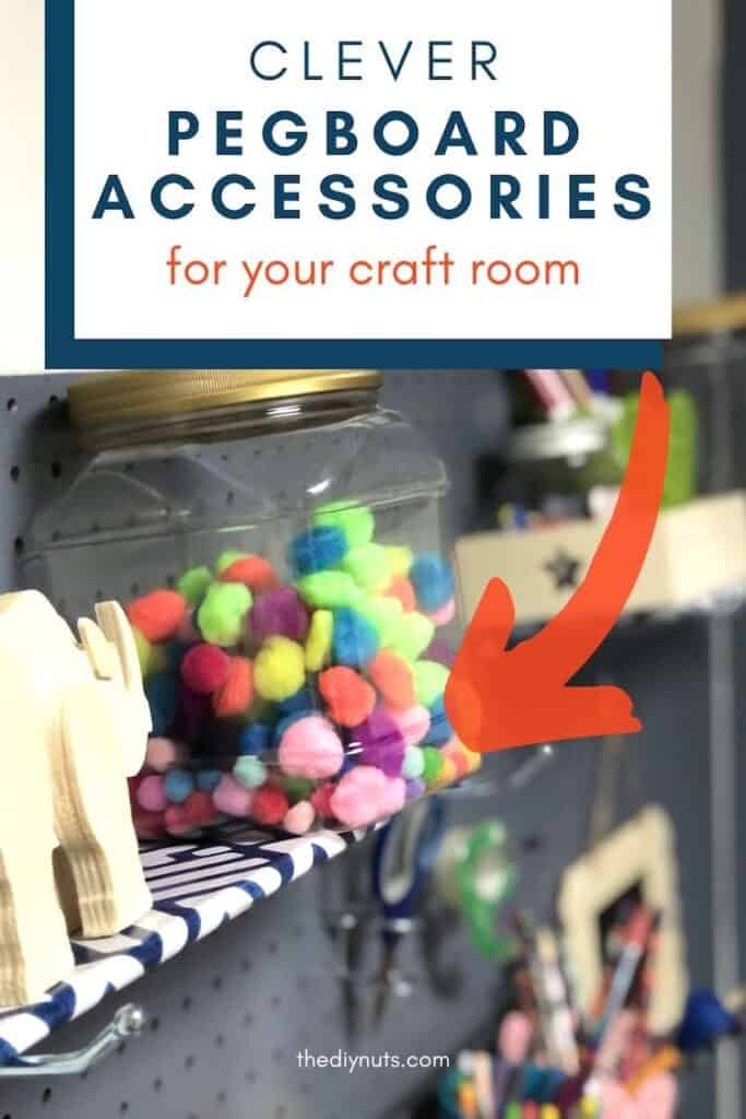 DIY pegboard accessories for your craft room