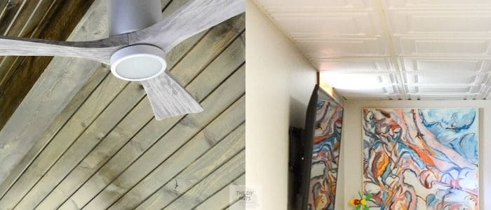 ceiling ideas with drop ceiling covers and tonue and groove screened in porch ceiling