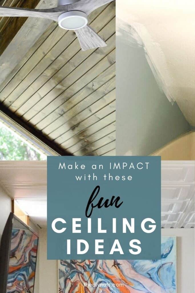 fun ceiling ideas that will make an impact with tongue groove ceiling, painted ceiling and drop ceiling ideas