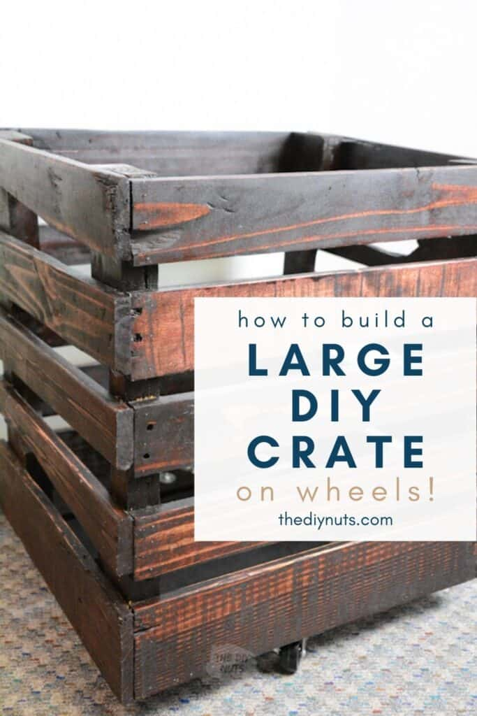 How to build a large pallet crate on wheels