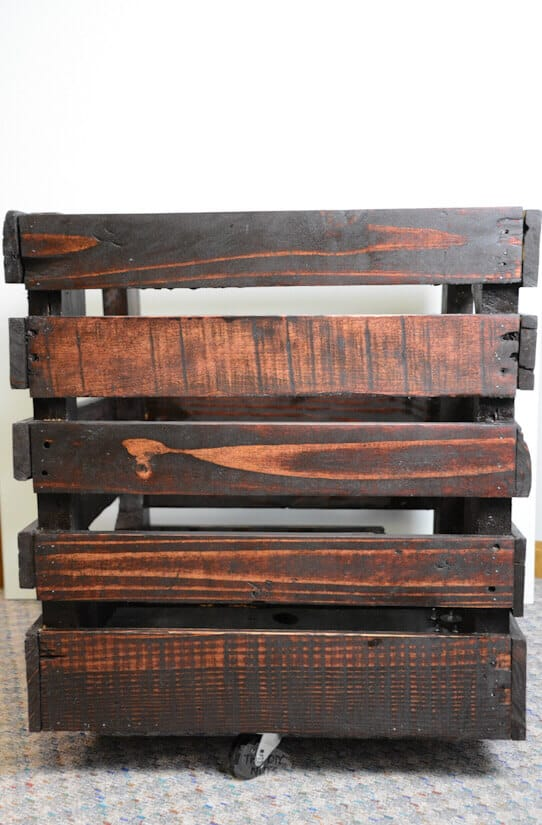DIY wooden storage crate book