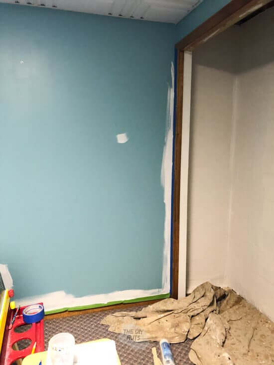 white paint trimming out walls
