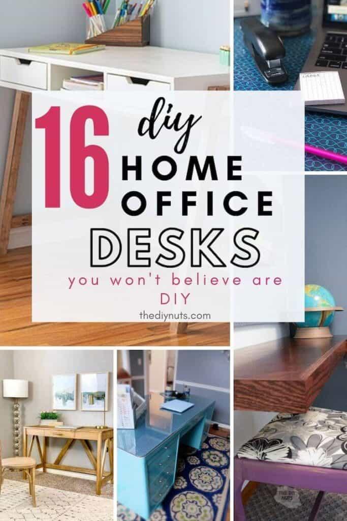16 diy home office desks you won't believe are DIY