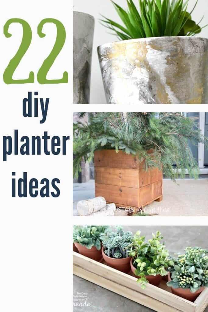 22 diy planter ideas with cedar box, small wooden planter box and painted flower pot