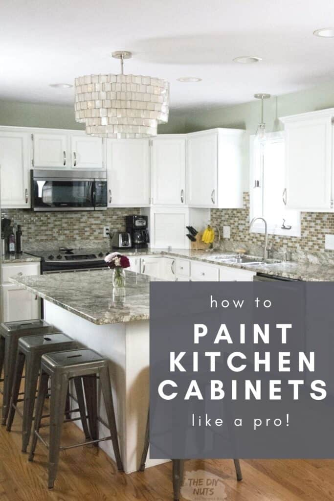 How to paint kitchen cabinets like a pro with white painted oak cabinets