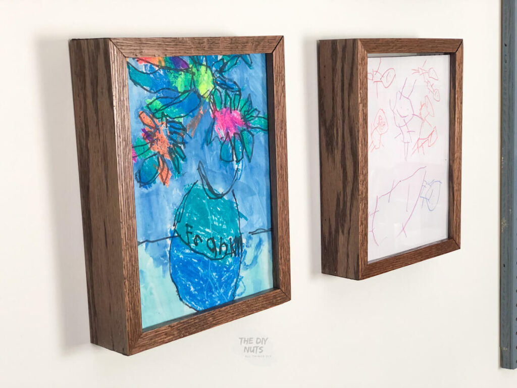 DIY art display boxes with removable top