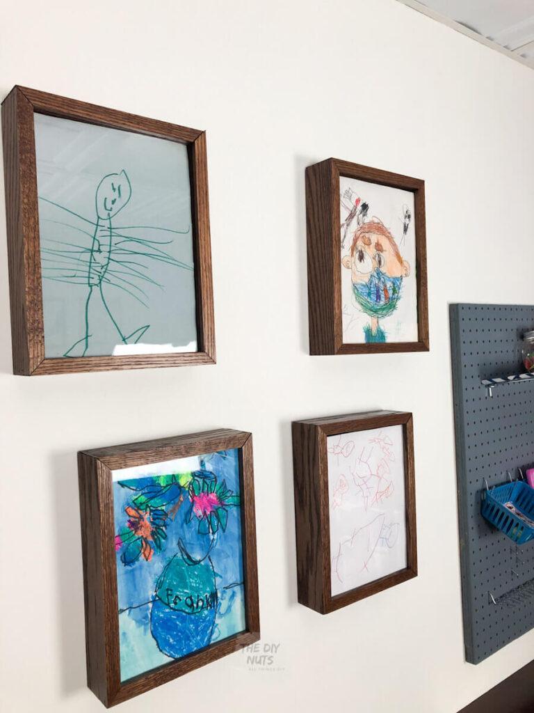 DIY art displays with DIY wooden frames
