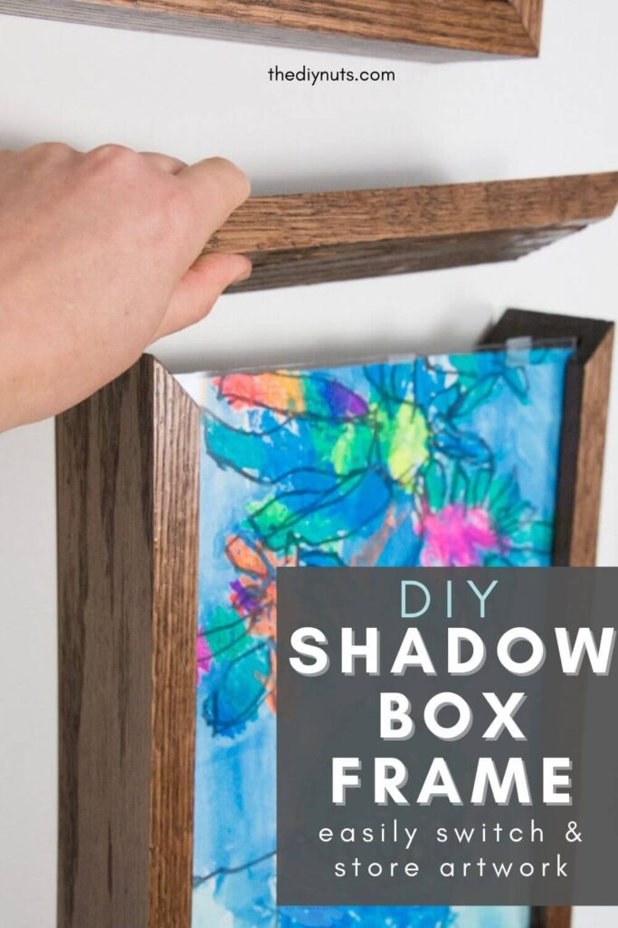DIY shadow box frame to easily store artworks