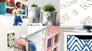 6 different spray paint diy home projects