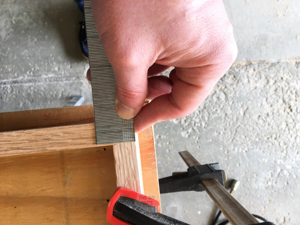 wood trim thickness with ruler for shadow boxes