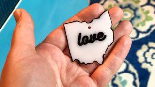 Ohio love shrinky dink idea