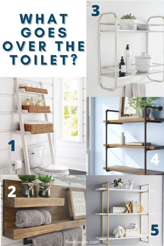 bathroom shelving ideas for above the toilet
