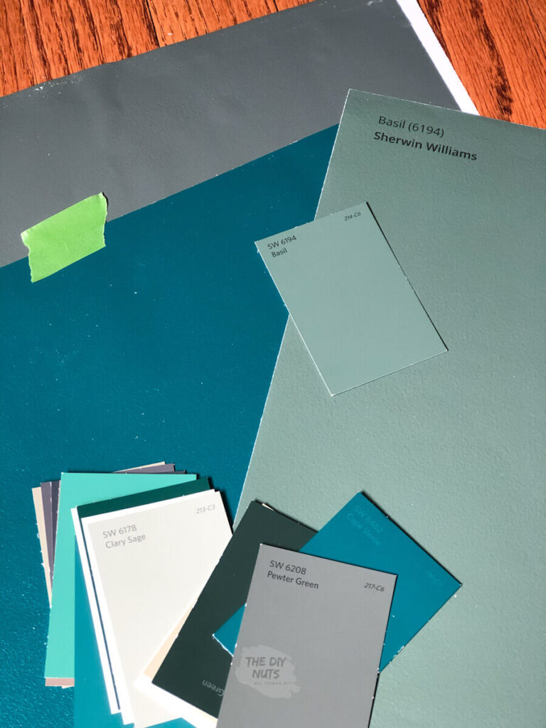 Samplize paint samples with smaller paint chips on top