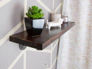Pipe Bathroom Shelving Idea