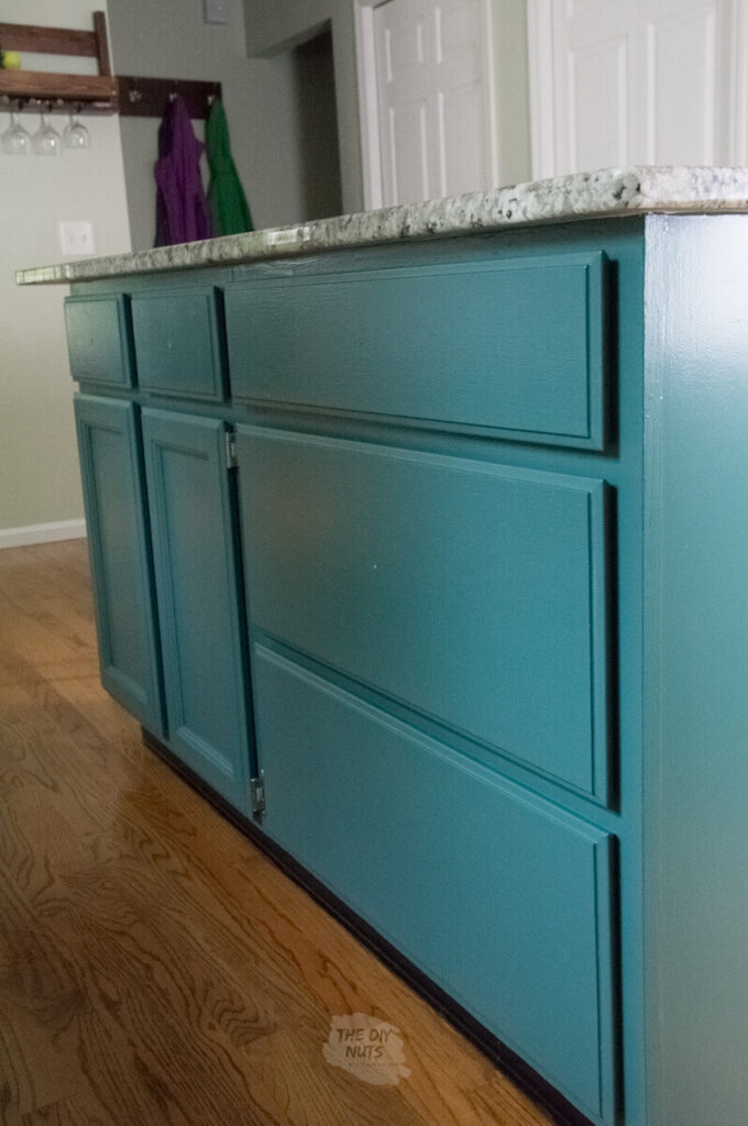 Finished painted oak cabinets