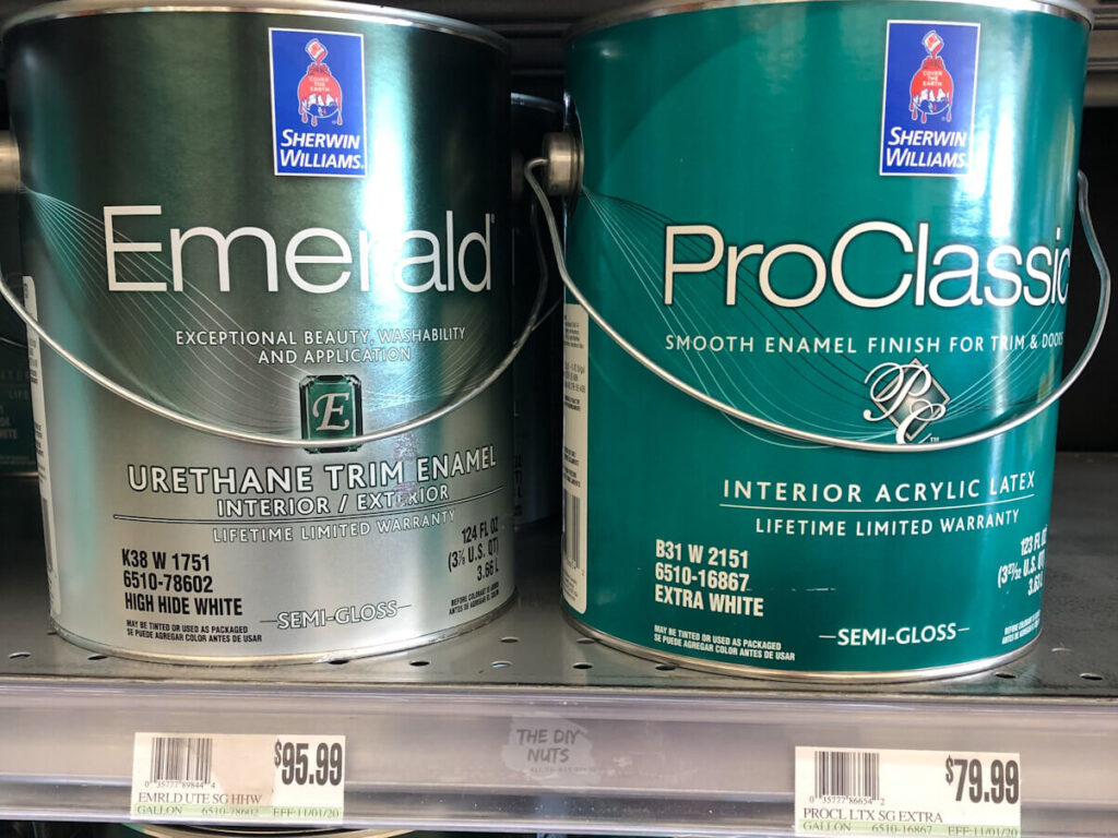Emerald Urethane Trim Paint and Pro Classic Paint From Sherwin Williams