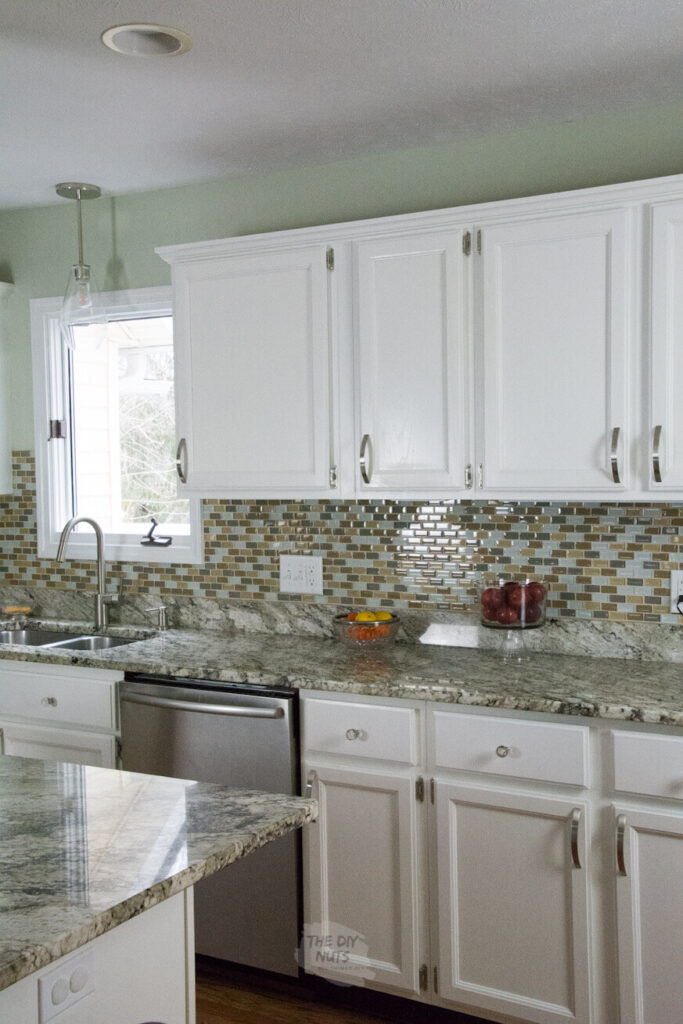 old oak cabinets painted white
