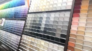 paint samples showing gray paint ideas