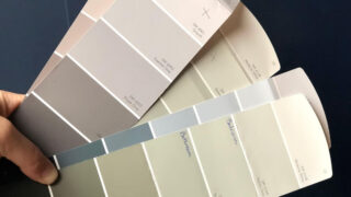paint swathes from Sherwin Willams with Grayish marked
