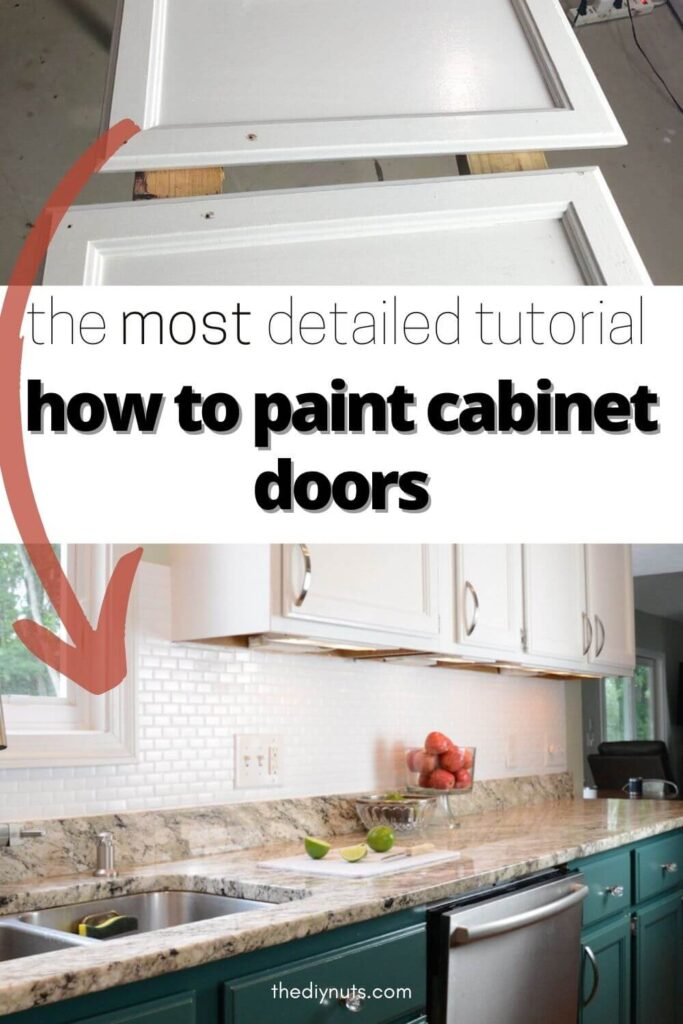 how to paint cabinet doors with white doors showing newly painted kitchen