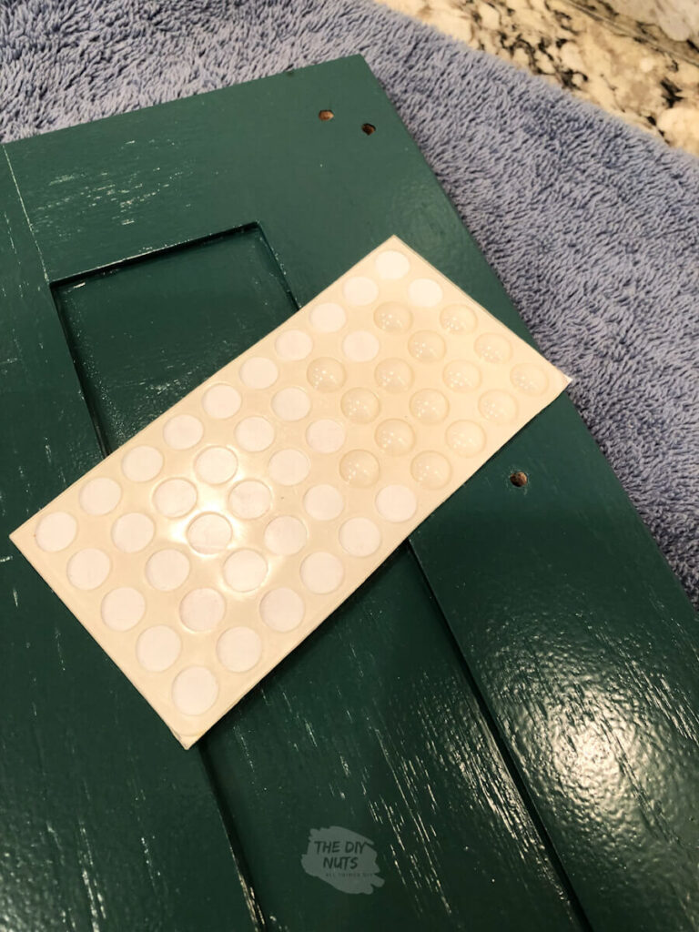 plastic bumpers used on back of painted cabinet door