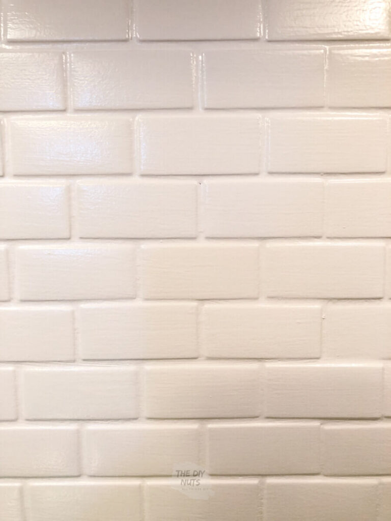white painted tile