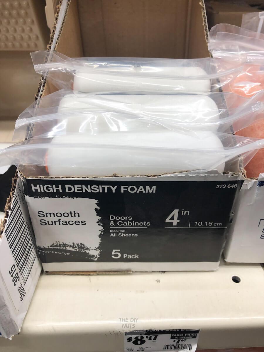4 in. x 3/8 in. High-Density Foam Mini Paint Roller (5-Pack)