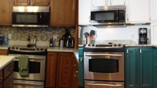 oak kitchen cabinets with stainless appliance and new image of cheap kitchen remodel with painted cabinets and backsplash