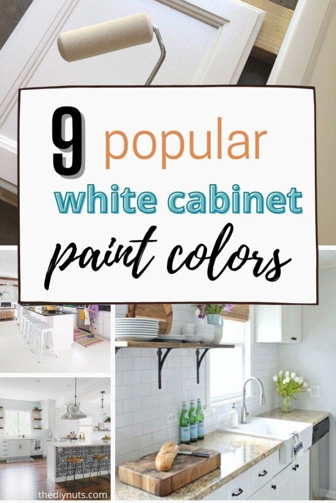 9 popular white cabinet paint colors