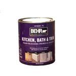 BEHR 1 Gal. White Acrylic Interior Kitchen, Bath, and Trim Stain-Blocking Primer and Sealer-07501...