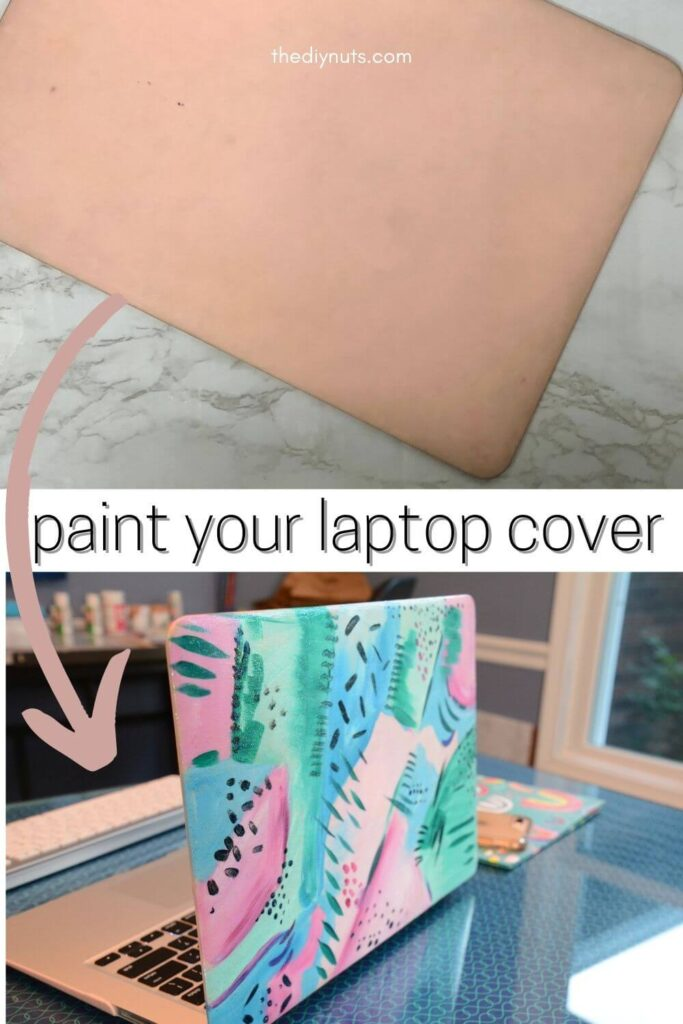 paint your laptop case with old laptop before and newly painted after