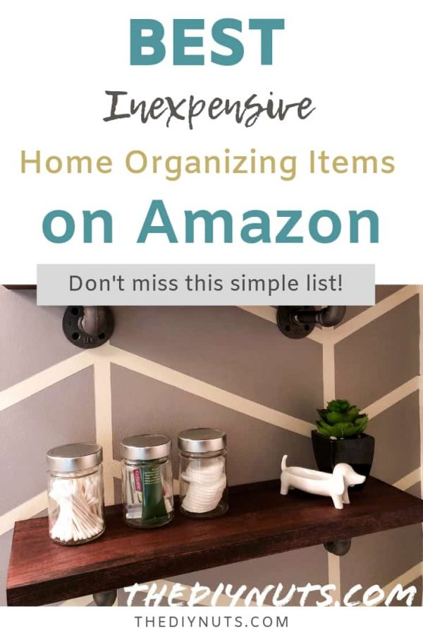 Industrial Shelve with Best Inexpensive Home organization items on Amazon